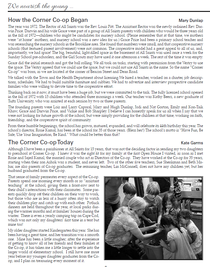 All Saints Parish bulletin Summer 2016